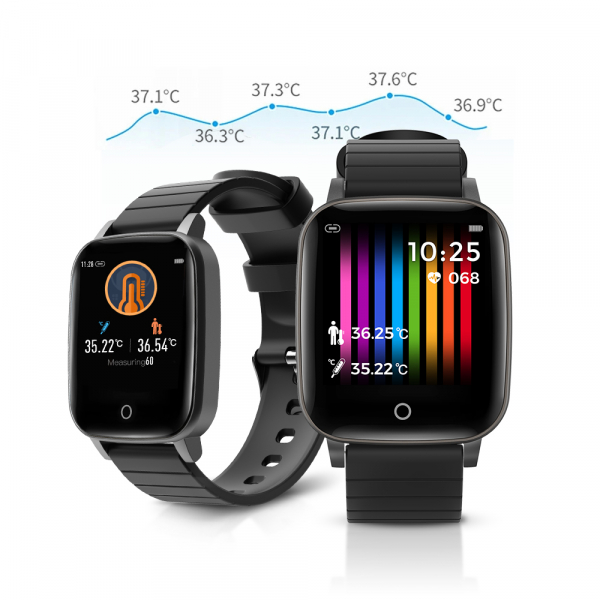 Smartwatch BlitzWolf BW-HL1T masurare temperatura corporala, ritm cardiac, bluetooth 5.0, notificari, activitati sportive 0
