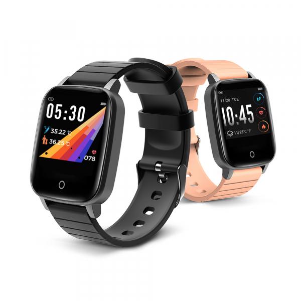 Smartwatch BlitzWolf BW-HL1T masurare temperatura corporala, ritm cardiac, bluetooth 5.0, notificari, activitati sportive 1