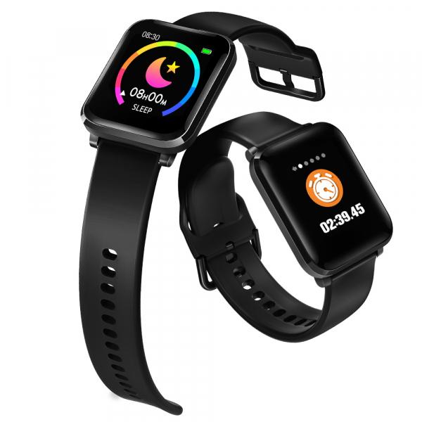 Ceas smart Blitzwolf, display color, HR, waterproof, control muzica, 8 moduri sport, masurarea tensiunii, notificari 3
