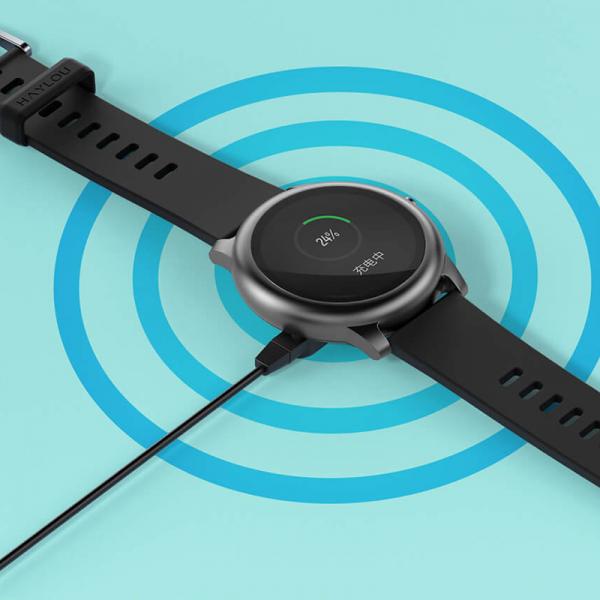 Smartwatch Xiaomi Haylou LS05 Solar EU resigilat, 12 moduri sport, bluetooth 5.0, IP68, PPG, monitorizare somn, negru 3