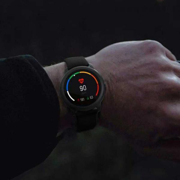Smartwatch Xiaomi Haylou LS05 Solar EU resigilat, 12 moduri sport, bluetooth 5.0, IP68, PPG, monitorizare somn, negru 1