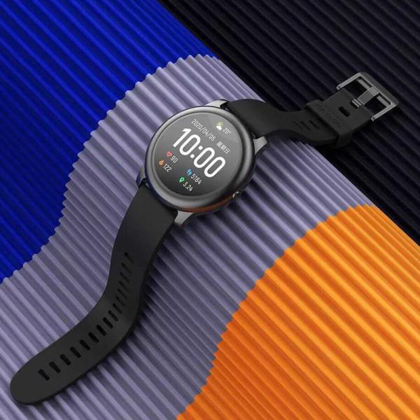 Smartwatch Xiaomi Haylou LS05 Solar EU resigilat, 12 moduri sport, bluetooth 5.0, IP68, PPG, monitorizare somn, negru 2
