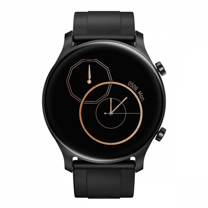 Smartwatch Haylou RS3 2021, senzor SPO2, display Amoled HD, GPS Sony integrat, waterproof 5ATM, monitorizare 14 sporturi, notificari, negru [4]