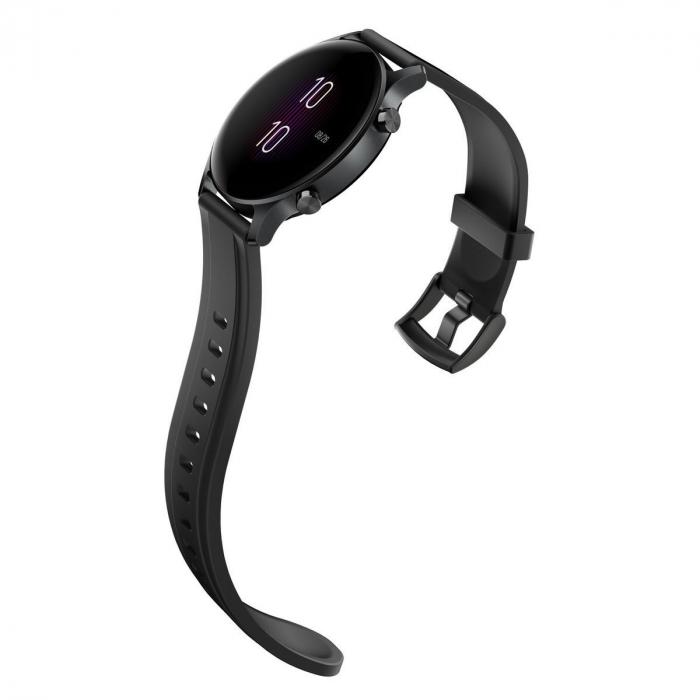 Smartwatch Haylou RS3 2021, senzor SPO2, display Amoled HD, GPS Sony integrat, waterproof 5ATM, monitorizare 14 sporturi, notificari, negru [6]