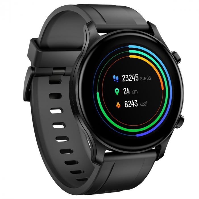 Smartwatch Haylou RS3 2021, senzor SPO2, display Amoled HD, GPS Sony integrat, waterproof 5ATM, monitorizare 14 sporturi, notificari, negru [2]