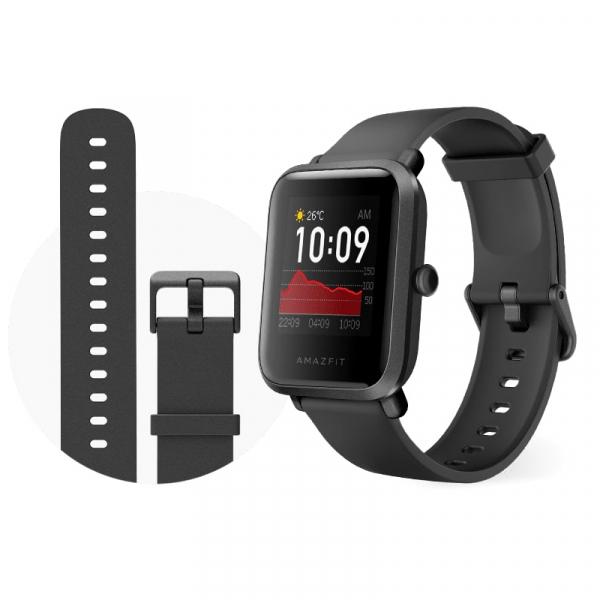 Smartwatch Amazfit BIP S 2020, waterproof, 40 zile autonomie, GPS Sony, Biotracker PPG, bluetooth 5.0, negru 1