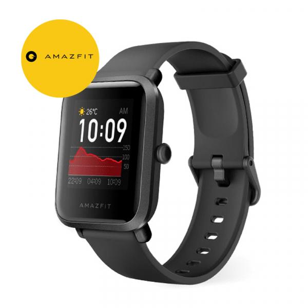 Smartwatch Amazfit BIP S 2020 resigilat, waterproof, 40 zile autonomie, GPS Sony, Biotracker PPG, bluetooth 5.0, negru [0]