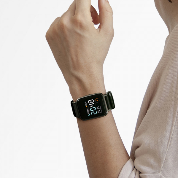 Smartwatch Xiaomi Haylou LS01, IP68 waterproof, 9 moduri sport, bluetooth, notificari, 14 zile autonomie, negru 6
