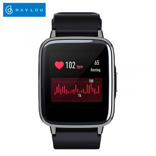 Smartwatch Xiaomi Haylou LS01, IP68 waterproof, 9 moduri sport, bluetooth, notificari, 14 zile autonomie, negru 2