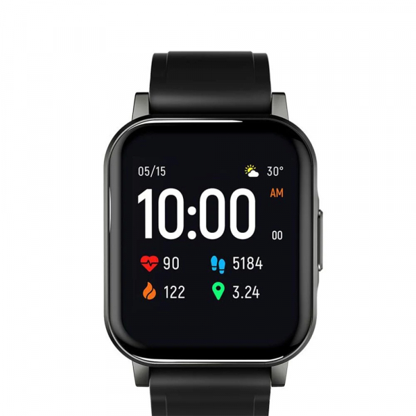 Smartwatch Xiaomi Haylou LS02 resigilat, versiune EU, bluetooth 5.0, 12 moduri sport, 20 zile autonomie, IP68, masurare ritm cardiac 1