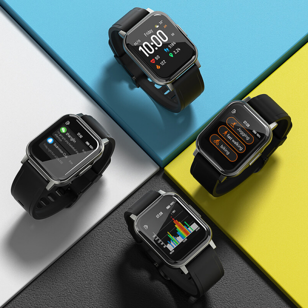Smartwatch Xiaomi Haylou LS02 resigilat, versiune EU, bluetooth 5.0, 12 moduri sport, 20 zile autonomie, IP68, masurare ritm cardiac 4