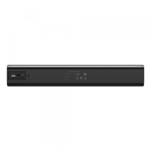 Soundbar Blitzwolf BW-SDB0 Mini Pro, 10W, 2200mAh, conexiune prin cablu jack sau bluetooth, sunet stereo 3