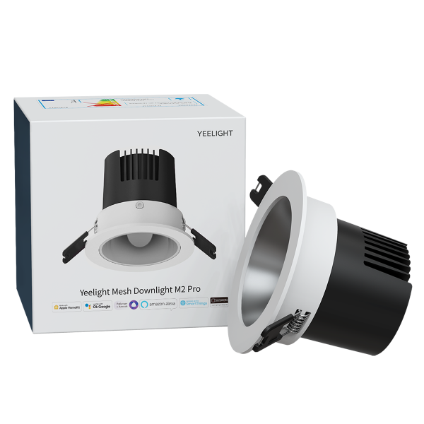 Spot Yeelight Mesh M2 PRO, bluetooth, 600 lumeni, 8W, 2700K-6500K compatibil Apple Homekit, Google Home, Alexa, SmartThings 0