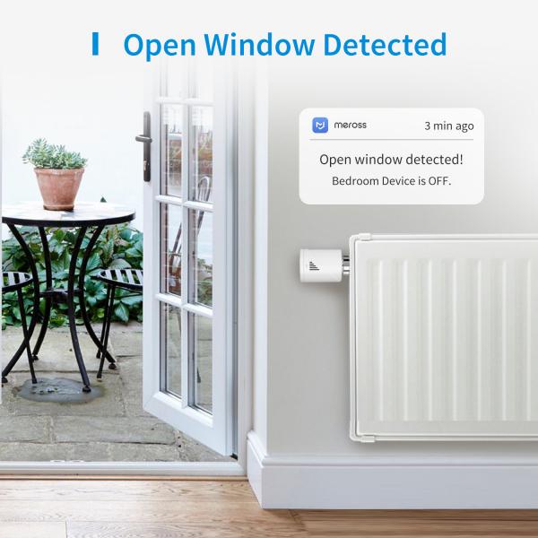 Starter kit Meross, robinet smart pentru calorifer cu termostat, hub inclus, compatibil  Alexa, Google Home, IFTTT, EU 1