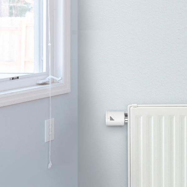 Starter kit Meross, robinet smart pentru calorifer cu termostat, hub inclus, compatibil  Alexa, Google Home, IFTTT, EU 6