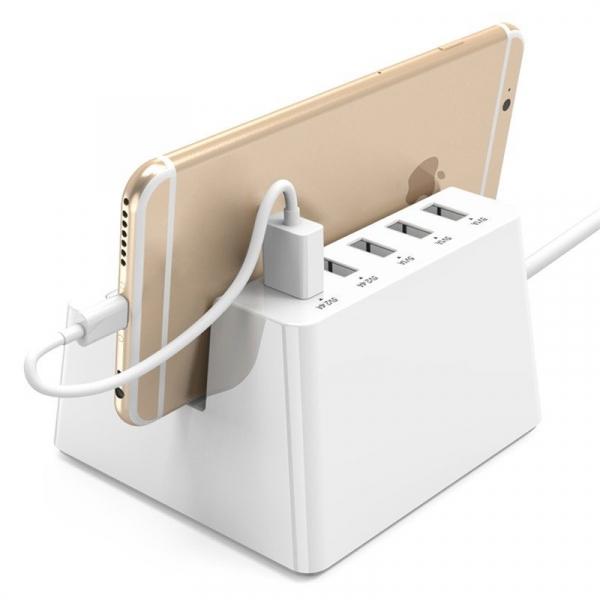 Statie de incarcare Orico, 2 prize 10A 2500W, 5 USB max 2.4A/port, protectie la supratensiune, livrare inteligenta a energiei 3