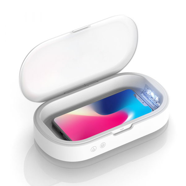 Sterilizator UV Blitzwolf compact pentru telefoane sau obiecte mici, sterilizare 99.99%, difuzor aromaterapie, UV 253.7nm 0