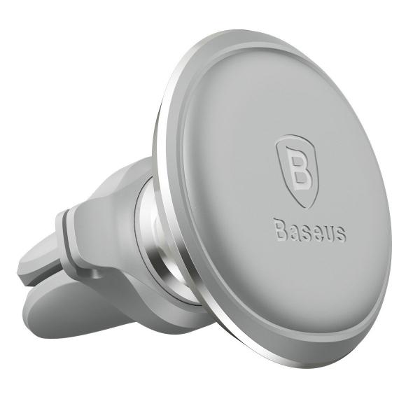 Suport auto magnetic Baseus silver, prindere la ventilatie, rotatie 360 grade, organizator cabluri 3