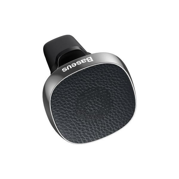 Suport auto magnetic Baseus Privity PRO pentru telefon, din aliaj aluminiu piele si silicon, 4 magneti, negru 2