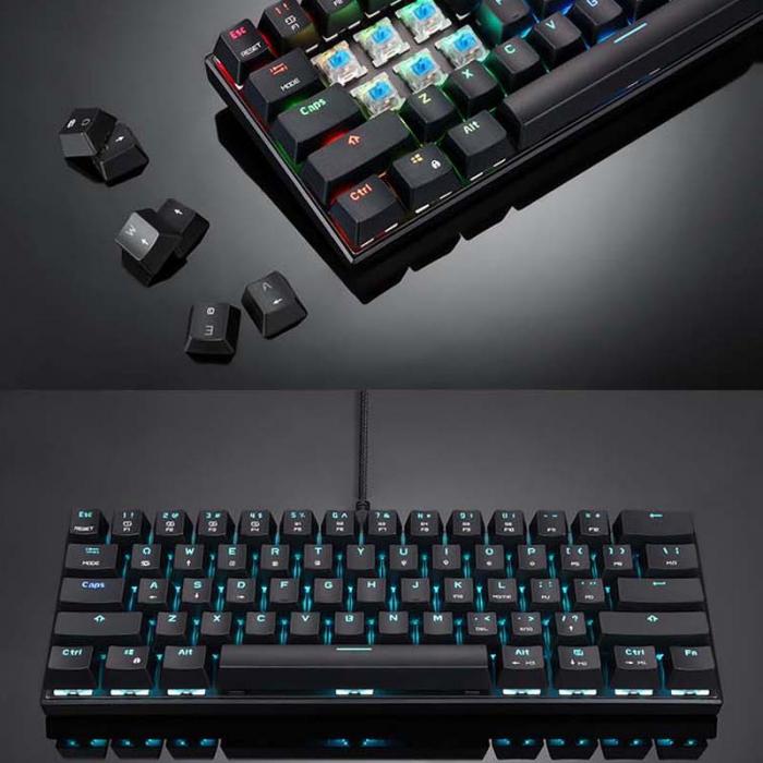 Tastatura mecanica wireless gaming Motospeed CK62 cu Bluetooth, dual mode, iluminare RGB, Type-C 3