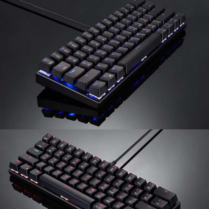 Tastatura mecanica wireless gaming Motospeed CK62 cu Bluetooth, dual mode, iluminare RGB, Type-C 4
