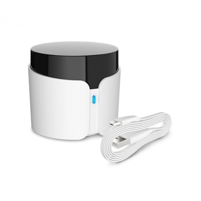 Telecomanda smart universala BroadLink RM4C PRO, 360°, Wi-Fi, acces de la distanta, IR 38KHz, RF 433 MHz, compatibila Google & Alexa 3