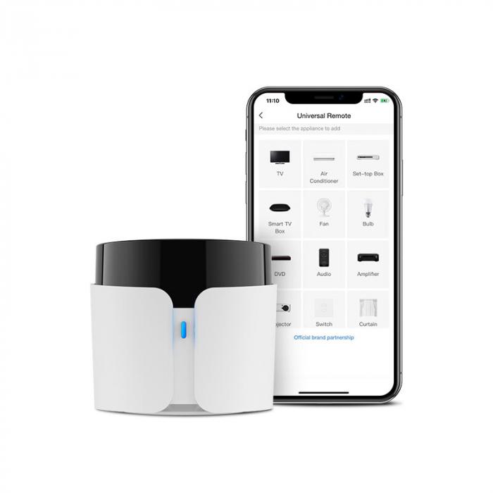 Telecomanda smart universala BroadLink RM4C PRO, 360°, Wi-Fi, acces de la distanta, IR 38KHz, RF 433 MHz, compatibila Google & Alexa 2