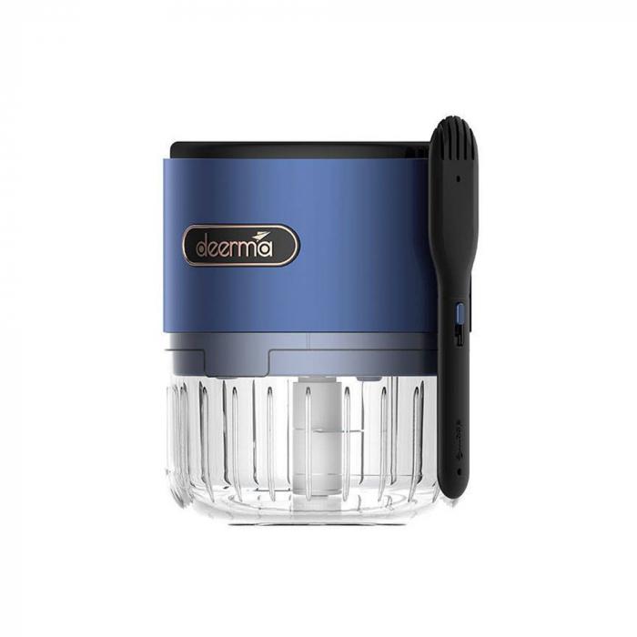 Mini tocator electric alimente Deerma JS100, 150ml, 1500mAh, 28000 rpm, 40W, otel inoxidabil 3