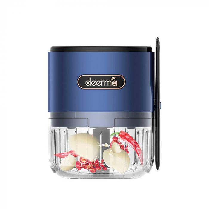 Mini tocator electric alimente Deerma JS100, 150ml, 1500mAh, 28000 rpm, 40W, otel inoxidabil 0