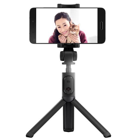 Tripod selfie stick Xiaomi, bluetooth 3.0, rotire stand 360°, inaltime ajustabila, gri 3