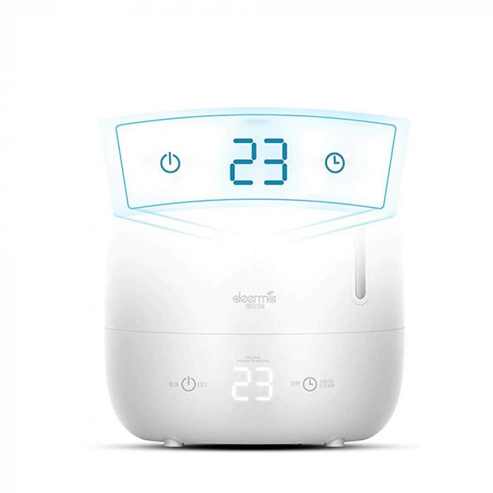 Umidificator Deerma Ultrasonic F600, 5L, 25W, filtru de carbon, display digital cu touch, Alb [1]