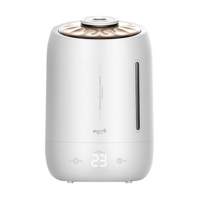 Umidificator Deerma Ultrasonic F600, 5L, 25W, filtru de carbon, display digital cu touch, Alb [0]