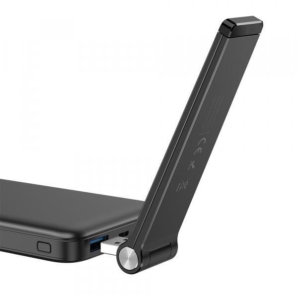 Wireless repeater portabil Blitzwolf BW-NET4, 300Mbs, 2.4GHz, alimentare USB, 100 metri acoperire, versiune EU 3