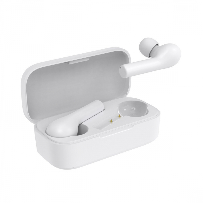 Xiaomi QCY T5 TWS albe, casti wireless cu bluetooth 5.0, AAC, IPX4 waterproof, touch control, 380mAh [1]