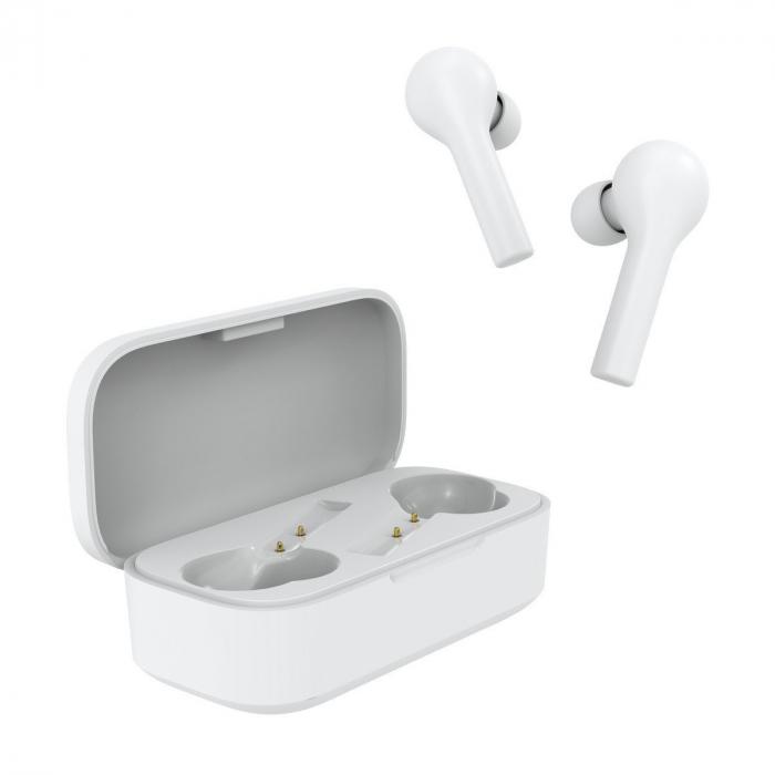 Xiaomi QCY T5 TWS albe, casti wireless cu bluetooth 5.0, AAC, IPX4 waterproof, touch control, 380mAh [3]
