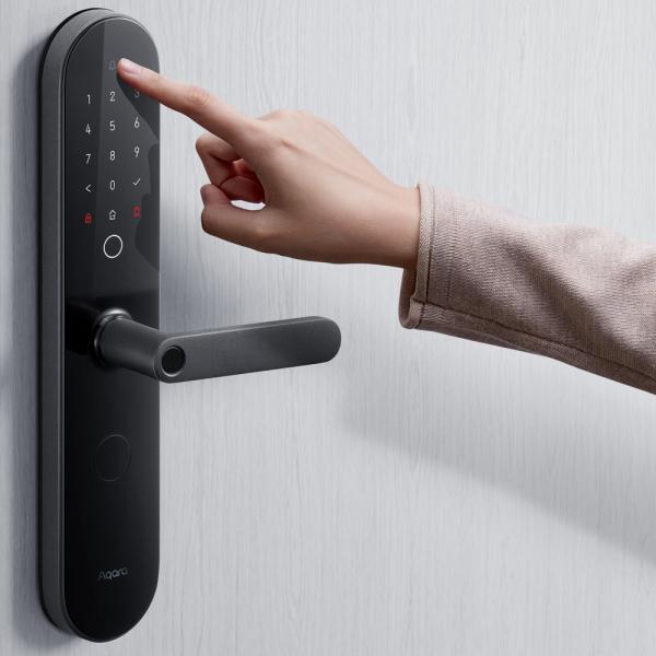 Yala smart Aqara N100 versiune europeana, ZigBee 3.0, amprenta, Bluetooth, NFC, compatibila ecosistem Aqara Home & Homekit 3