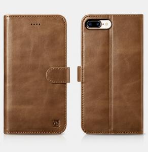 Husa din piele naturala ICARER, iPhone 7Plus / 8Plus, spate detasabil, compartimente card2