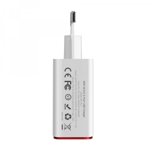 Incarcator telefon Blitzwolf PL2, 30W, 1 port 3A Quick Charge 3.0 plus 2 porturi USB cu Spower 2.4A, EU, alb3