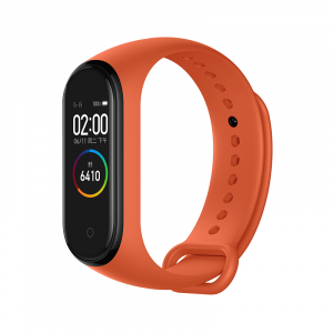 Bratara de schimb Xiaomi Mi Band 4, originala, thermal orange2