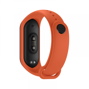 Bratara de schimb Xiaomi Mi Band 4, originala, thermal orange3