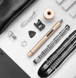 Set surubelnita electrica Xiaomi Wowstick 1+, 88 accesorii, 200r/min, LED, baterie 500mAh , gold1