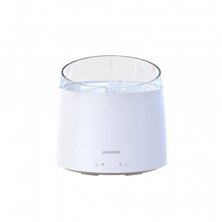 Adapator PetWant W2-N tip fantana pentru catei sau pisici, 1.5 litri, curatare UV, Alb [1]