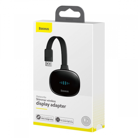 Adaptor HDMI wireless Baseus 4K 30Hz, WiFi, streaming media, jocuri de pe telefon pe TV, compatibil Android & iOS3