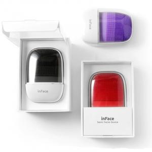 Aparat curatare faciala Xiaomi inFace Sonic, silicon medicinal, generatia a 2-a, 5 programe, waterproof IPX7, Negru2