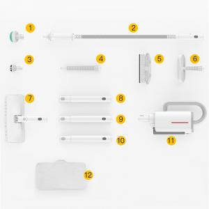 Aparat multifunctional cu abur Xiaomi Deerma 5 in 1, 1600W, 150°C, mop, curatare geamuri, canapele, versiune EU4
