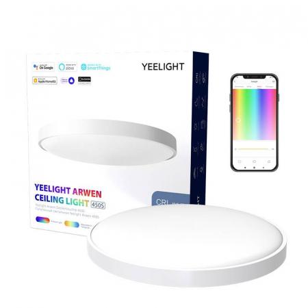 Aplica smart Yeelight Arwen 450S, 3000 lumeni, 455mm, Ra 90, 2700K-6500K, compatibila Google Home, Apple Homekit, SmartThings, Alexa0