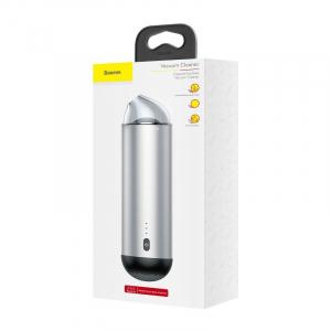 Aspirator auto wireless Baseus Capsule, 65W, 4000Pa, 2000 mAh, 25 minute autonomie, filtrare tripla, silver1