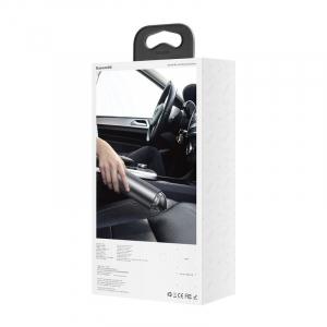 Aspirator auto wireless Baseus Capsule, 65W, 4000Pa, 2000 mAh, 25 minute autonomie, filtrare tripla, silver [2]