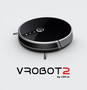Aspirator smart VROBOT-II, control de la distanta, WiFi, functie de spalare, compatibil Google, Alexa0
