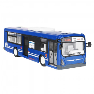 Autobuz de jucarie RC cu telecomanda Double Eagle, albastru, 5.5Km/h, lumini fata/spate, sunete demo, usi automate [1]